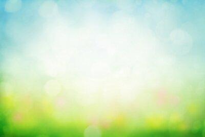 Naklejka Pogodny wiosny łąki plamy tło
