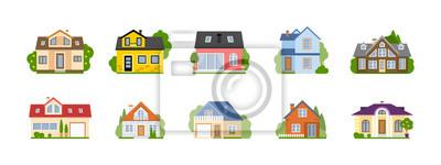 Naklejka Pojęcie nieruchomości, nieruchomości i własności.