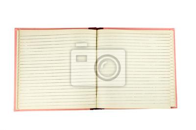 pojedyncze otwarte puste notebook z podszyciem stron