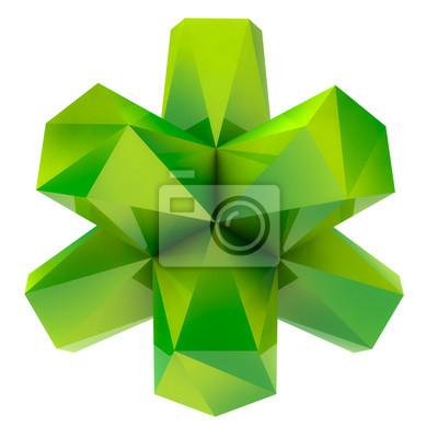 pojedyncze zielone fajne trójkątne abstrakcyjny kształt obiektu