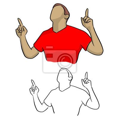 pół portret męski piłkarz świętuje bramkę na boisku piłkarskim podczas meczu ilustracji wektorowych szkic doodle wyciągnąć rękę z czarnymi liniami na białym tle