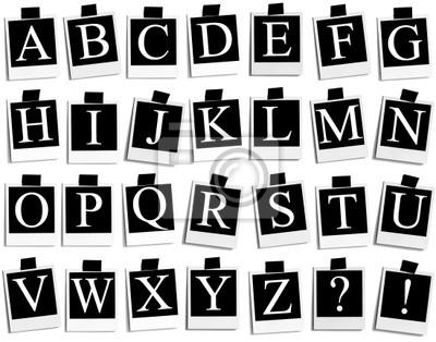 Polaroid na ABC - AZ małe - białe tło