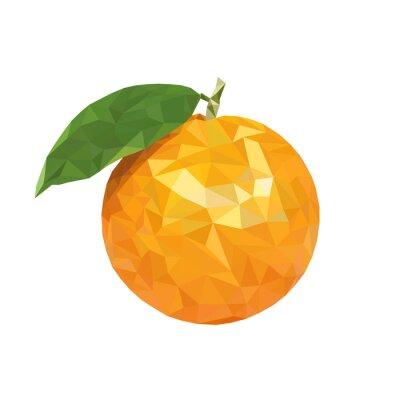 Naklejka poli Niska pomarańczowy
