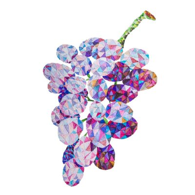 Naklejka poli Niskie winogron akwarelowe