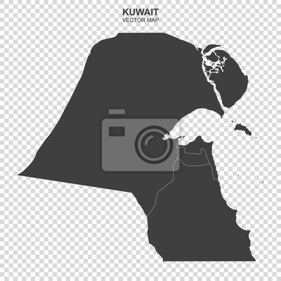 political map of Kuwait isolated on transparent background