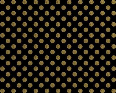 Naklejka Polka dot wzór złoty