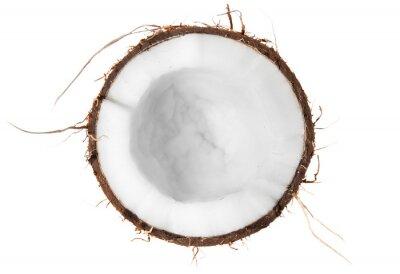 Naklejka Połowa z kokosowym widok z góry