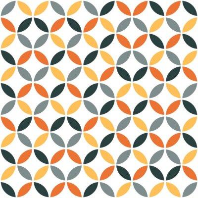 Naklejka Pomarańczowy geometryczny wzór retro bezszwowe