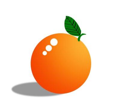 Naklejka Pomarańczowy owoc wyizolowanych