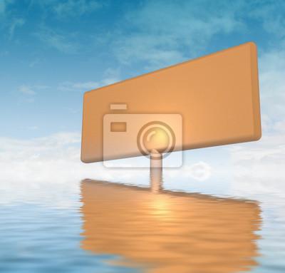 pomarańczowy płyta reklama zatrzymany w wody oceanu