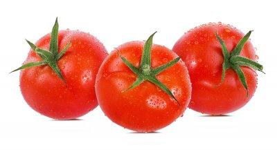 Naklejka pomidor na białym tle