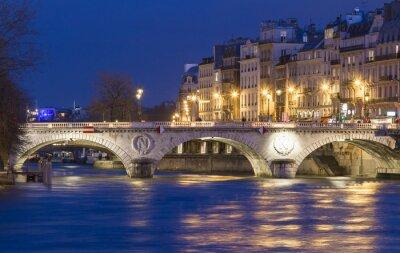 Naklejka Pont Saint-Michel, Paryż, Francja.