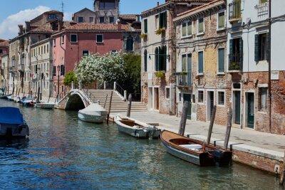 Ponte Brazzo in Venice, Italy. Streets of Venice. Summer