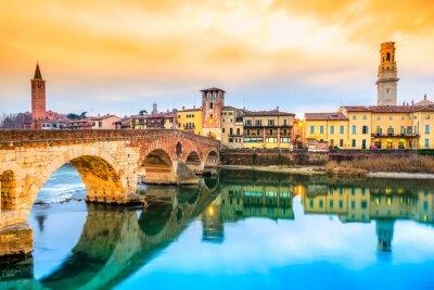 Naklejka Ponte di Pietra w Werona, Włochy