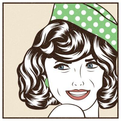 Naklejka Pop Art ilustracji dziewczynki