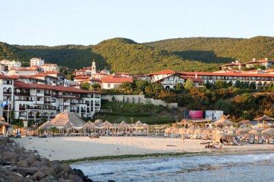 Naklejka Port jachtowy Marina Dinevi, Bułgaria - 29 sierpnia 2014