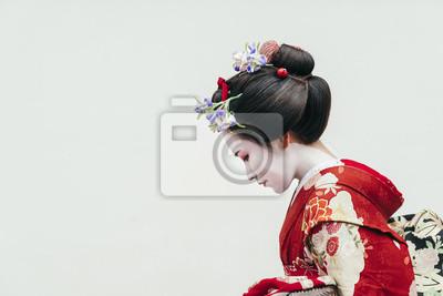 Naklejka Portret gejszy Maiko Gion w Kioto