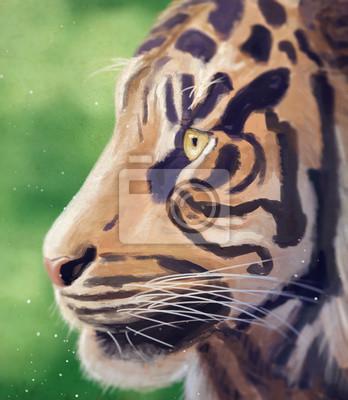 Portret tygrysa / cyfrowym obrazem / ilustracji
