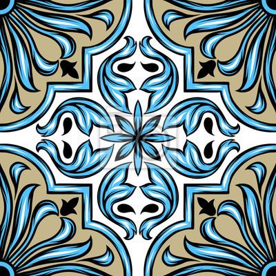 Portugalska ceramiczna płytka azulejo.