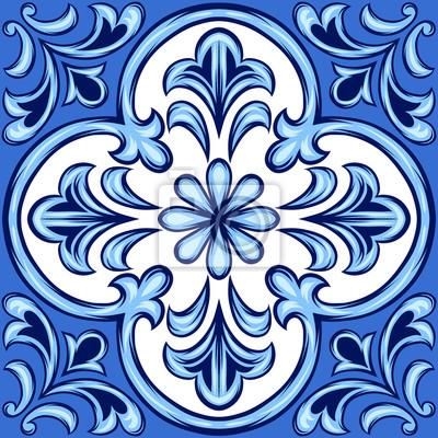 Portugalska płytka ceramiczna azulejo.