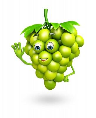 Naklejka Postać z kreskówki z winogron