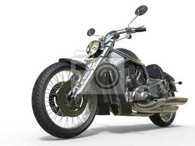 Naklejka Potężny Vintage motocykl - Zbliżenie