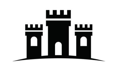 potrójny zamek wektor