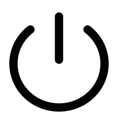 Naklejka Power Button