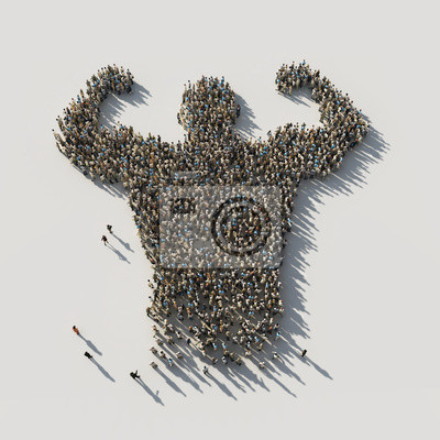 Naklejka power man of crowds