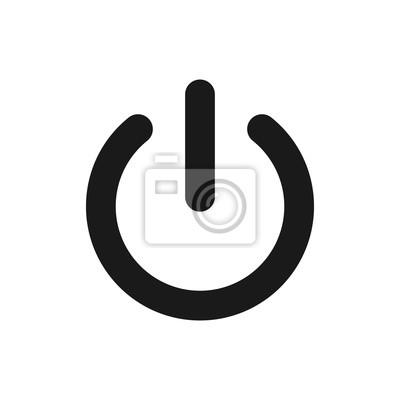 Naklejka Power off icon. Power on icon. On-Off icon vector illustration