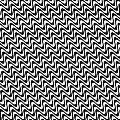 Naklejka Powtarzanie czarno-biały wzór fali