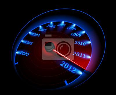 Prędkościomierz. Ilustracja wektorowa