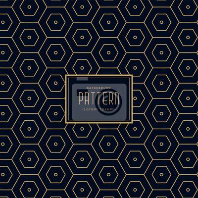 premium dark heaxagonal pattern background