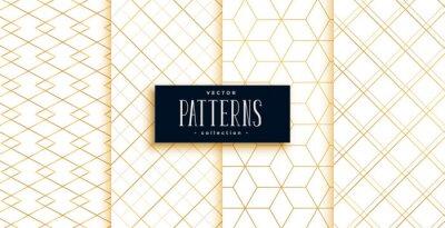 premium golden and white geometric art deco patterns