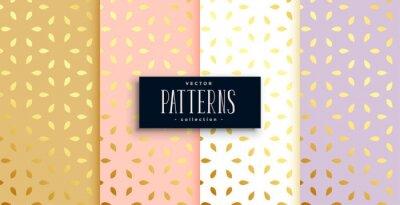 premium set of golden patterns on pastel color background