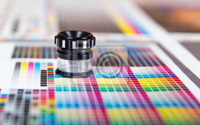 Naklejka Press color management - print production