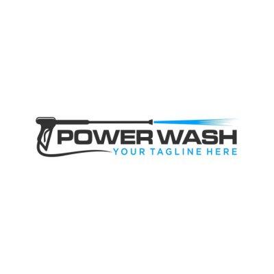 Naklejka pressure wash logo template