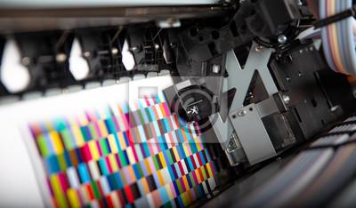 Naklejka Printer ink jet print machine printing color patches for color management control