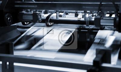 Naklejka Proces poligraficzny w drukarni