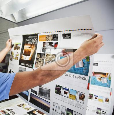 Naklejka Procesy drukowania