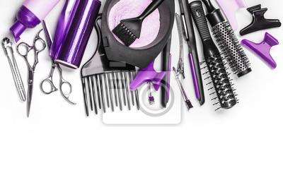 Naklejka Profesjonalne narzędzia fryzjerskie