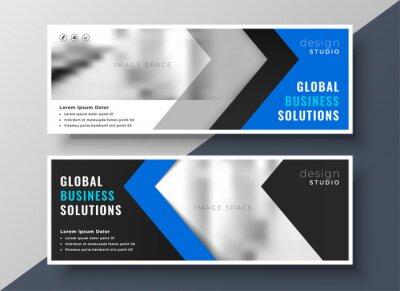 professional blue business banner design