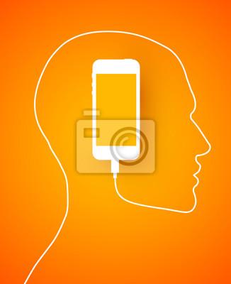 Profil pomarańczowy telefon