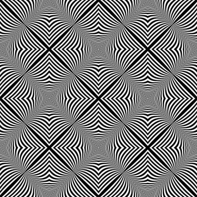 Naklejka Projekt bez szwu monochromatyczny tło iluzja