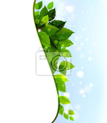 Projekt świeżych zielonych liści