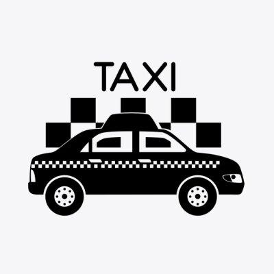 Naklejka Projekt taksówką.