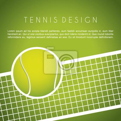 Naklejka projekt tenis