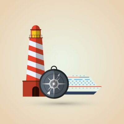 Naklejka projektowanie ikon podróży