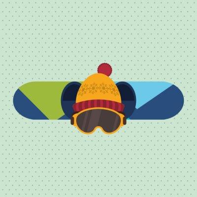 Naklejka projektowanie sport zimowy