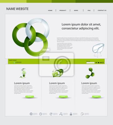 Projektowanie stron internetowych, Theme ekologiczne